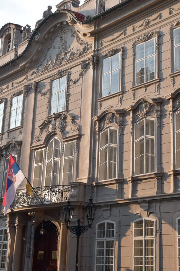 Kaunitz Palace in Mostecká Street, Old Town, Prague; CM