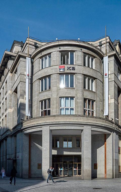 KP, Budova bývalé Eskomptní banky v ulici Na Příkopě na Starém Městě v Praze
